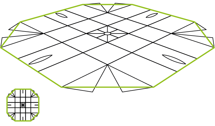 Octangon layout
